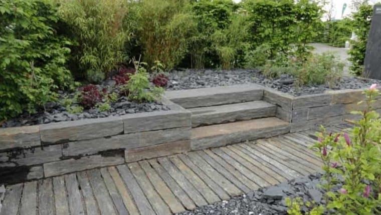Garten aus Granit.