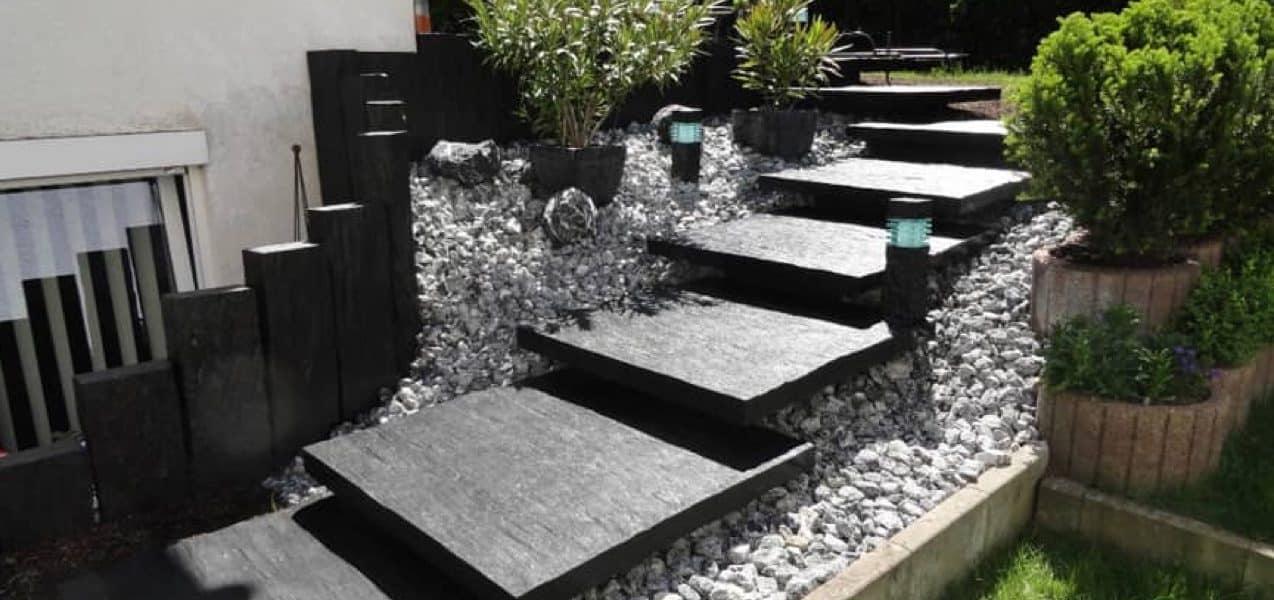 Mit Schieferplatten Akzente In Der Gartengestaltung Setzen
